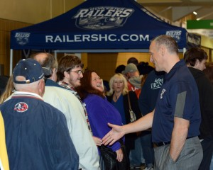 Jamie Russell meets with fans at Skate to the Date
