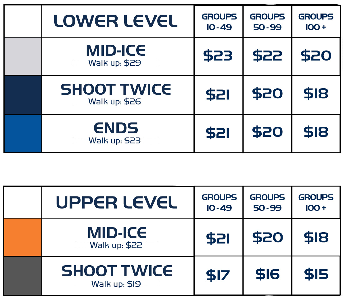 2020-21 Group Pricing